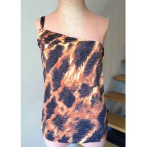 Just Cavalli Womens Top Tank Blouse One Shoulder M